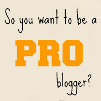 how to become a pro blogger