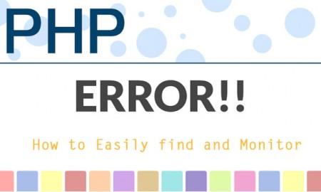 Monitor PHP errors